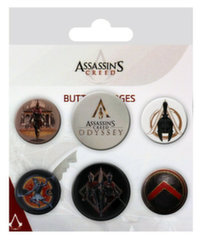 Badges 6-Pack - Assassin's Creed Odyssey, 2x32mm x 4x25mm