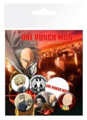Badges 6-Pack - One Punch Man, 2x32mm x 4x25mm