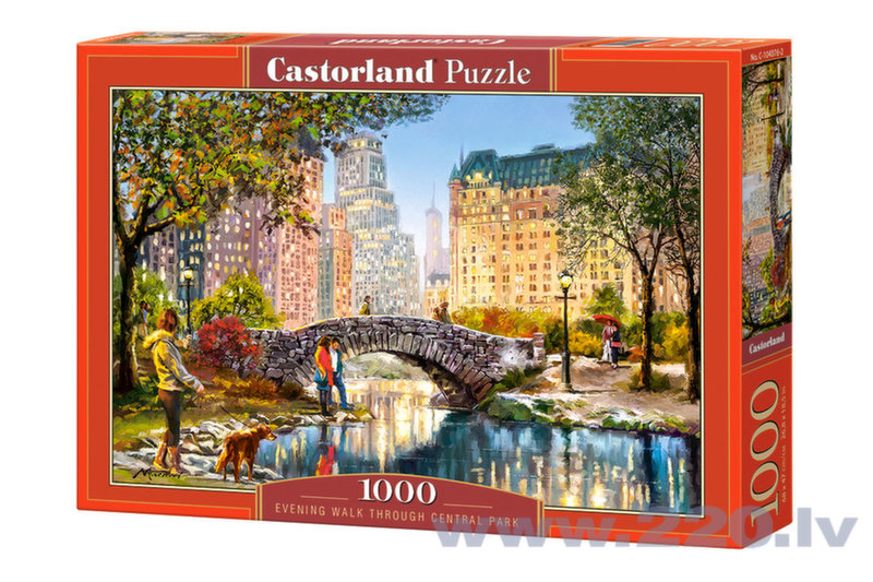 Puzle Puzzle Castorland Evening Walk Through Central Park, 1000 gab.