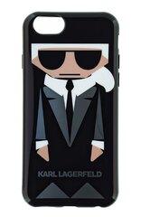 Mobilā telefona aizmugurējais apvalks Karl Lagerfeld, piemērots Apple Iphone 6/6s, Melns