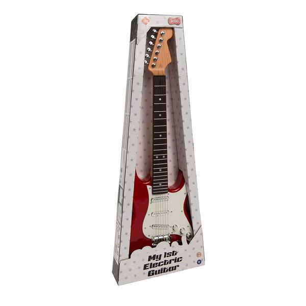 Smiki elektriskā ģitāra, sarkana, 70 cm, 6276441 internetā