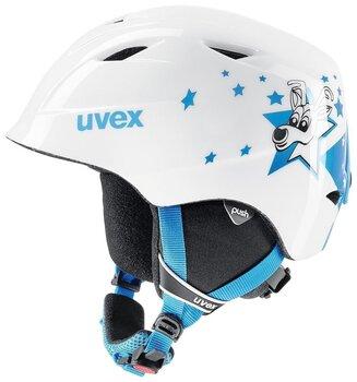 Slēpošanas ķivere Uvex Airwing 2, balta/zila