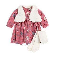 Cool Club komplekts: kleita ar garām, veste un zeķubikses meitenēm, CCG1906068-00