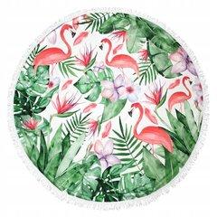 Pludmales dvielis Havana 150x150 cm, zaļš/rozā cena un informācija | Dvieļi | 220.lv