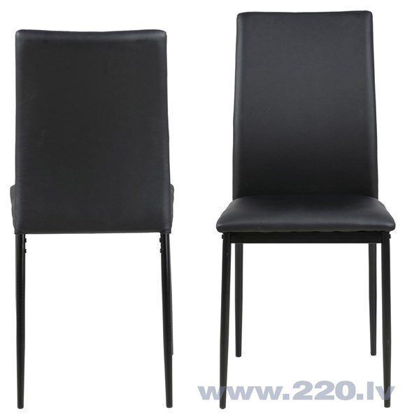 4-u krēslu komplekts Actona Demina, melns