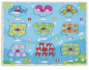 Top Bright koka puzle ar tapām Saskaitīsim jūras dzīvniekus, 8 det.