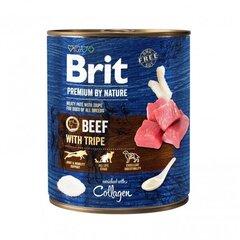 Brit Premium by Nature konservi suņiem Beef with Tripes 800g cena un informācija | Konservi suņiem | 220.lv