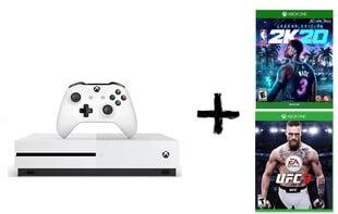Microsoft Xbox One S 1TB + NBA 2k20 Legend Edition + UFC 3