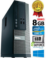 Dell Optiplex 390 i5-2400 8GB 480SSD GTX1650 4GB DVDRW Windows 10 Dators cena un informācija | Dell Optiplex 390 i5-2400 8GB 480SSD GTX1650 4GB DVDRW Windows 10 Dators | 220.lv