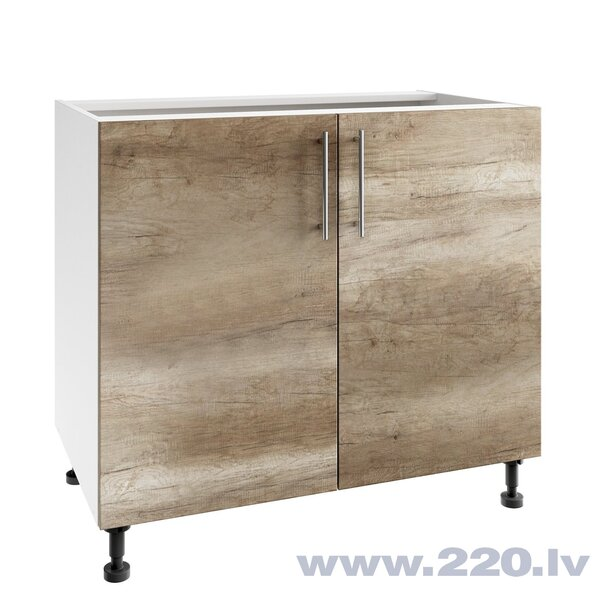 Virtuves skapītis Lupus Luna 2D 90 cm, brūns