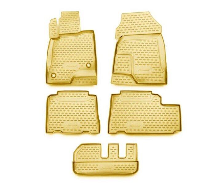 Gumijas paklājiņi 3D CHEVROLET Captiva 2011->, 5 gab. /L08018B /beige