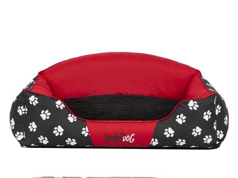 Guļvieta Hobbydog Exclusive L, sarkana/melna cena un informācija | Gultas, spilveni un būdas | 220.lv