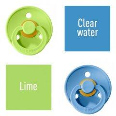 Knupītis BIBS COLOUR Lime/ Clear Water 6-18 mēn. cena un informācija | Knupīši | 220.lv
