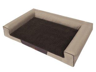 Hobbydog guļvieta Victoria Exclusive XL, smilšu/brūnas krāsas, 100x66 cm cena un informācija | Gultas, spilveni un būdas | 220.lv