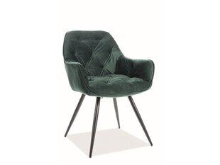 2-u krēslu komplekts Signal Meble Cherry, zaļš cena un informācija | Virtuves un ēdamistabas krēsli | 220.lv