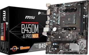 MSI B450M-A PRO MAX cena un informācija | Mātesplates | 220.lv