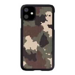 MAN&WOOD SmartPhone case iPhone 11 camouflage black cena un informācija | Maciņi, somiņas | 220.lv