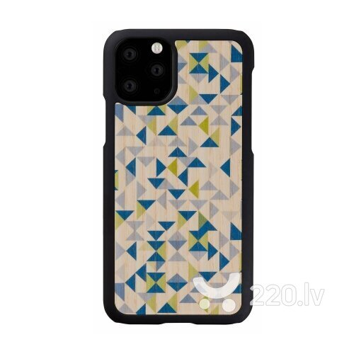 MAN&WOOD SmartPhone case iPhone 11 Pro blue triangle black