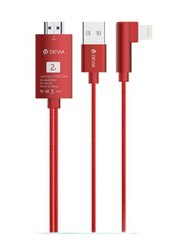 Devia Storm series HDMI Cable (HDMI to lightning) red cena un informācija | Devia Storm series HDMI Cable (HDMI to lightning) red | 220.lv