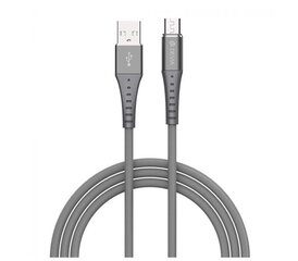 Devia Braid Series Cable (2.1A Android) 1M silvery cena un informācija | Devia Braid Series Cable (2.1A Android) 1M silvery | 220.lv