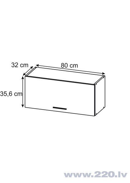 Sienas skapītis Lupus Luna Mini 1D 80 cm, gaiši brūns cena