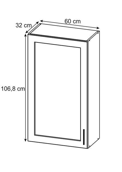 Sienas vitrīna skapītis Lupus Bella Max 1D 60 cm, balts internetā
