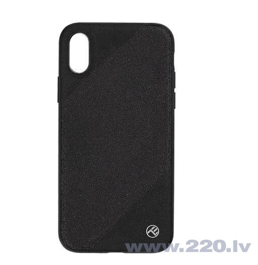 Tellur Cover Synthetic Leather Glitter III for iPhone X/XS black