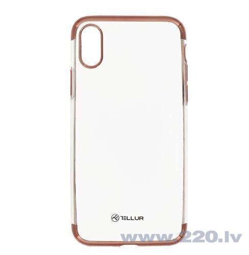 Tellur Cover Silicone Electroplated for iPhone X/XS rose gold