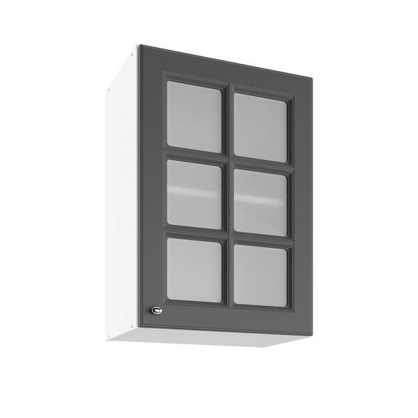 Sienas vitrīna skapītis Lupus Bella 1DS6 50 cm, pelēks