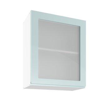 Sienas vitrīna skapītis Lupus Vegas 1D 60 cm, zaļš cena un informācija | Virtuves skapīši | 220.lv