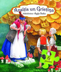 Ansītis un grietiņa 6 puzles / Agita Staka cena un informācija | Grāmatas mazuļiem | 220.lv