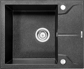 Deante granīta virtuves izlietne Deante Andante ZQN 211A, Grafito cena un informācija | Virtuves izlietnes | 220.lv