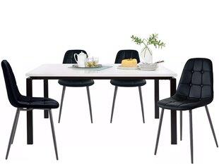 Комплект мебели для столовой Notio Living Silva / Lina, черный цена и информация | Комплекты мебели для столовой | 220.lv