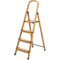 Tatkraft sadzīves trepes Upgrade, 4 pakāpieni cena un informācija | Saliekamās kāpnes, celtniecības sastātnes | 220.lv