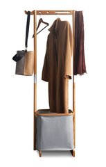 Bambusa drēbju pakaramais ar uzglabāšanas nodalījumu cena un informācija | Pakaramie un apģērbu maisi | 220.lv