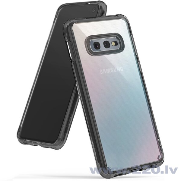Ringke Fusion PC Case with TPU Bumper for Samsung Galaxy S10e black (FSSG0062-RPKG) (Black)