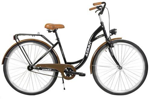 Sieviešu pilsētas velosipēds AZIMUT Classic 28 2020, melns cena un informācija | Velosipēdi | 220.lv