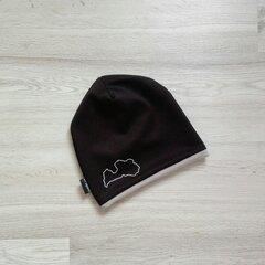 Cepure ar atstarojošu Latvijas kontūras apdruku, LV cepures cena un informācija | Vīriešu cepures, šalles, cimdi | 220.lv