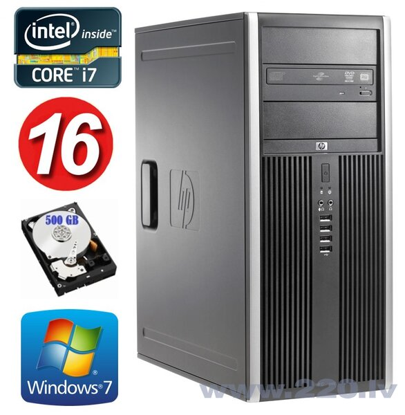 HP 8100 Elite MT i7-860 16GB 500GB NVS450 DVD WIN7Pro