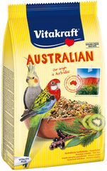 Vitakraft vidēju papagaiļu barība ar eikaliptu Australian, 750 g kaina ir informacija | Vitakraft vidēju papagaiļu barība ar eikaliptu Australian, 750 g | 220.lv