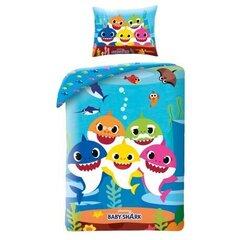 Комплект детского постельного белья Baby Shark, 140x200, из 2 частей цена и информация | Детское постельное бельё | 220.lv