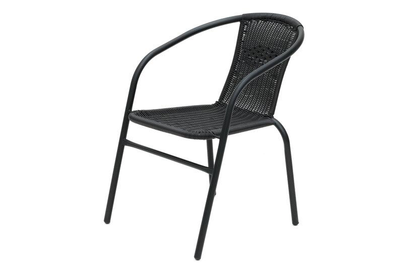 Āra krēsls 4LIVING Roma, melns