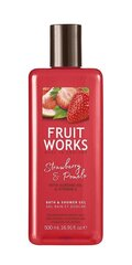 Dušas želeja Grace Cole Fruit Works Strawberry & Pomelo 500 ml