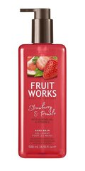 Šķidrās roku ziepes Grace Cole Fruit Works Strawberry & Pomelo 500 ml