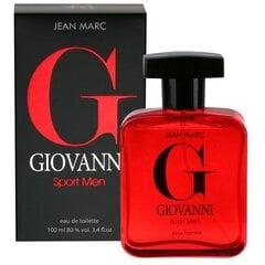 Tualetes ūdens Jean Marc Giovanni Sport Men EDT vīriešiem 100 ml cena un informācija | Tualetes ūdens Jean Marc Giovanni Sport Men EDT vīriešiem 100 ml | 220.lv