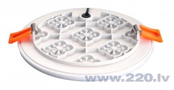 LED iegremdējams bezrāmja apaļš gaismeklis 8W, 100 mm, silti balts (3000K) cena