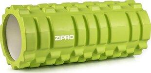 Treniņu cilindrs - masāžas veltnis Zipro Fitness, zaļš cena un informācija | Masāžas piederumi | 220.lv