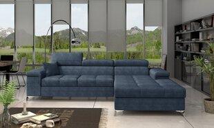 Stūra dīvāns NORE Ricardo, zils gobelēns cena un informācija | Stūra dīvāni | 220.lv