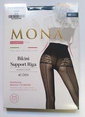 Sieviešu zeķbikses MONA Bikini Support Riga 40 Nero cena un informācija | Zeķubikses | 220.lv