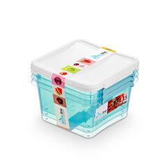 Orplast pārtikas uzglabāšanas konteiners, 1.15l, 3 gab cena un informācija | Trauki pārtikas uzglabāšanai | 220.lv